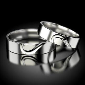 Obrączki ślubne z brylantem